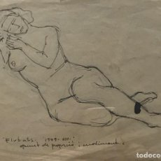 Arte: 1949 FLOTATS. ORIGINAL A LÁPIZ FIRMADO 22,1X16,3 CM. Lote 154955286