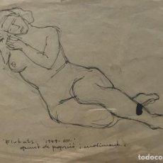 Art - 1949 Flotats. Original a lápiz firmado 22,1x16,3 cm - 154955286