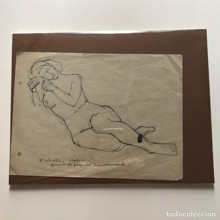 Arte: Flotats. Dibujo original a lápiz firmado. 1949 - Foto 2 - 154955286