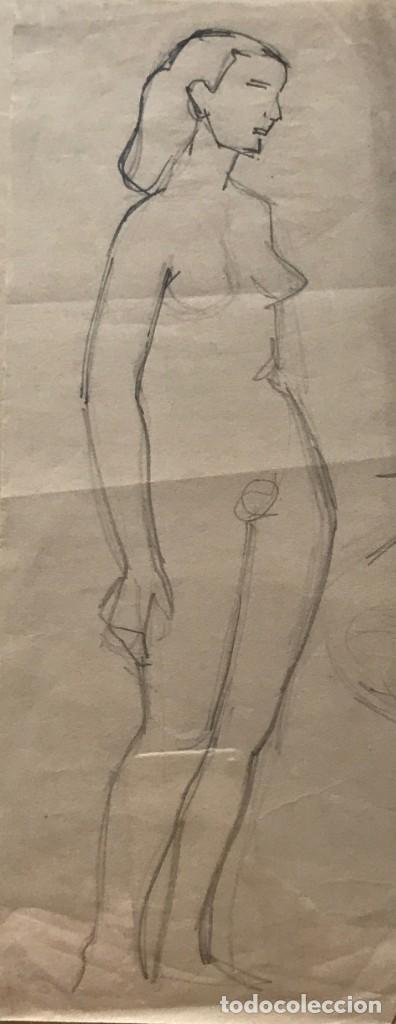 FLOTATS. ORIGINAL A LÁPIZ 11,6X28,3 CM (Arte - Dibujos - Contemporáneos siglo XX)