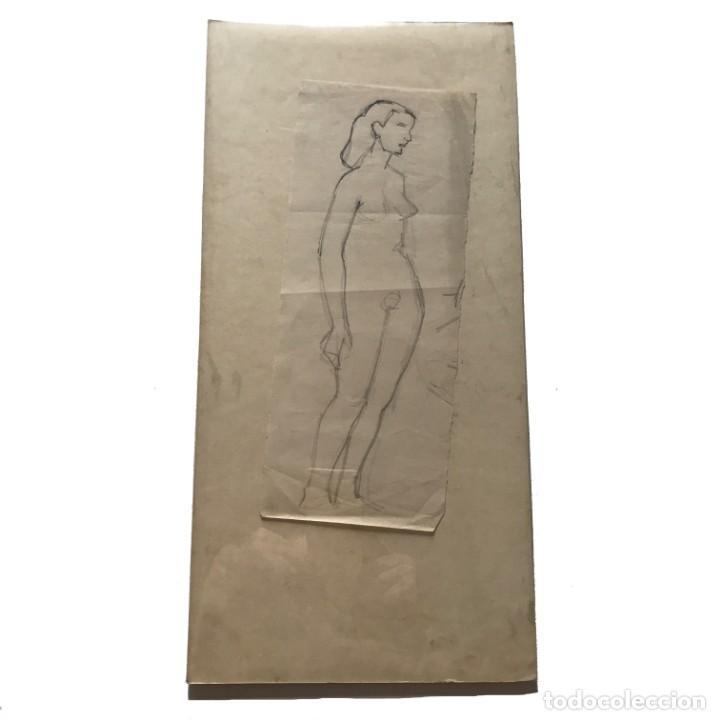 Arte: Flotats. Original a lápiz 11,6x28,3 cm - Foto 2 - 154955546