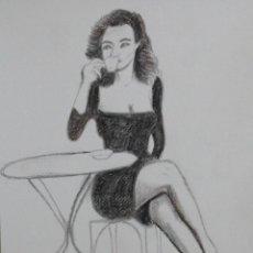 Arte: TOMANDO CAFE OBRA DE GILABERTE. Lote 155069710