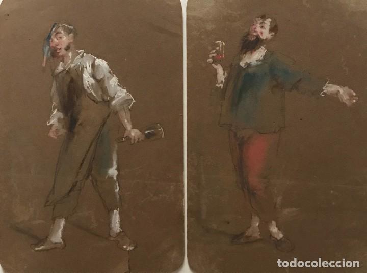 ORIGINALES CON MOTIVOS DE ENOLOGÍA 13X20 CM (Arte - Dibujos - Contemporáneos siglo XX)