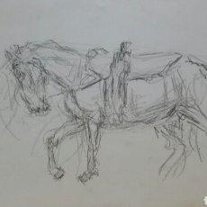 Arte: DIBUJO CABALLOS ORIGINAL. Lote 155188142