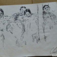 Arte: DIBUJO PRISIONERAS DE GUERRA. Lote 155189390