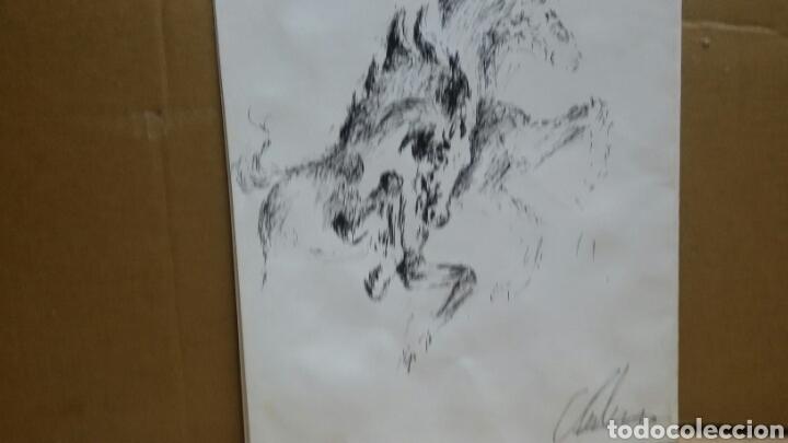 Arte: Dibujo Caballos de fuego original - Foto 2 - 155189458