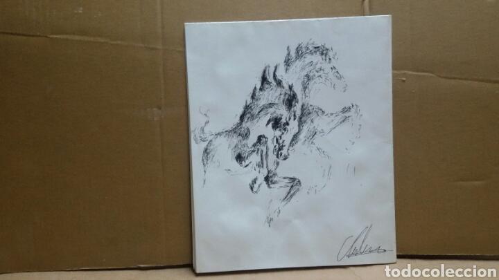 Arte: Dibujo Caballos de fuego original - Foto 3 - 155189458