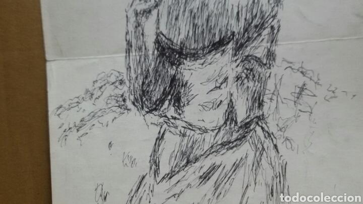 Arte: Dibujo A Mujer insinuando original/B retratos Mompou. - Foto 3 - 155189502