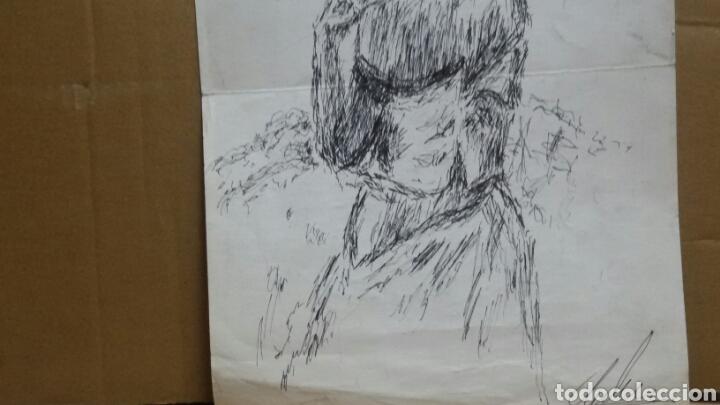 Arte: Dibujo A Mujer insinuando original/B retratos Mompou. - Foto 5 - 155189502
