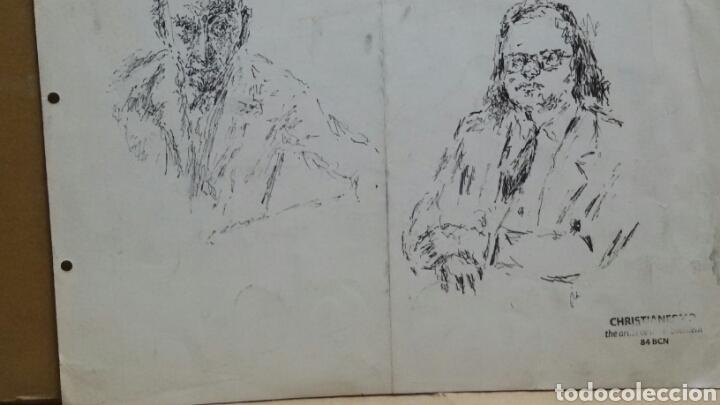 Arte: Dibujo A Mujer insinuando original/B retratos Mompou. - Foto 6 - 155189502