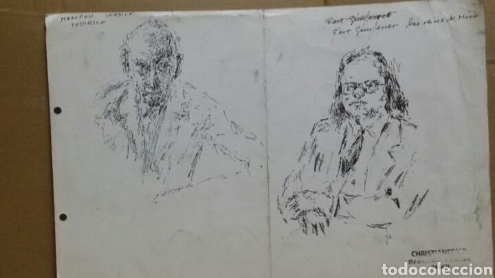 Arte: Dibujo A Mujer insinuando original/B retratos Mompou. - Foto 7 - 155189502