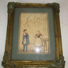 Arte: PRECIOSO MARCO Y DIBUJO ESTILO FLAMENCO XVII XVIII DE VEU LERIS . Lote 155298826
