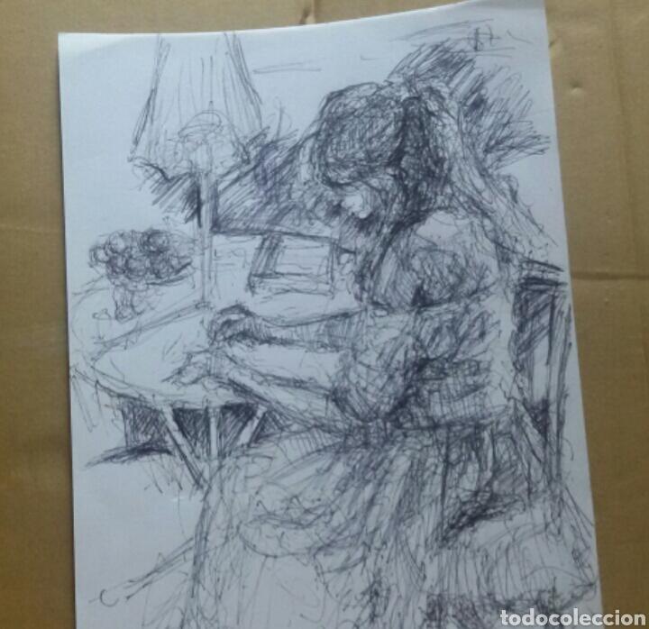Arte: Dibujo Chica en el Jardín original - Foto 2 - 155334410