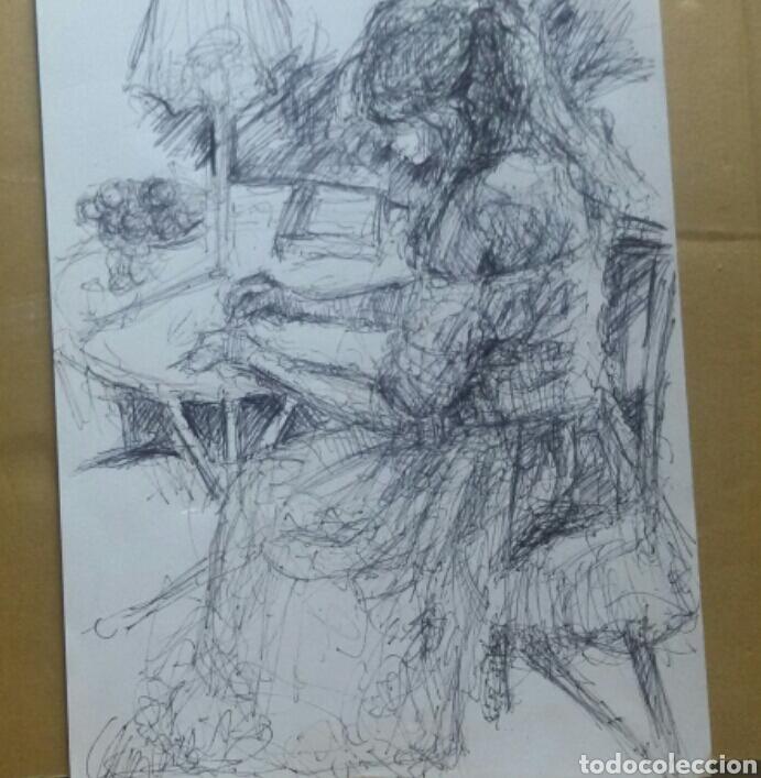 Arte: Dibujo Chica en el Jardín original - Foto 3 - 155334410