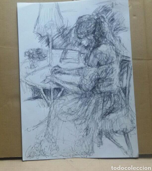 Arte: Dibujo Chica en el Jardín original - Foto 4 - 155334410
