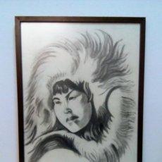 Arte: DIBUJO ESQUIMAL FIRMADO A. FOLCH - 93. Lote 155363154