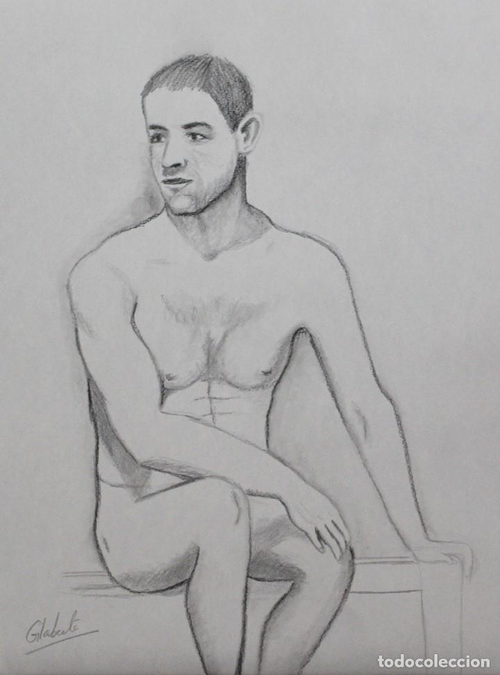 MODELO SENTADO OBRA DE GILABERTE (Arte - Dibujos - Contemporáneos siglo XX)