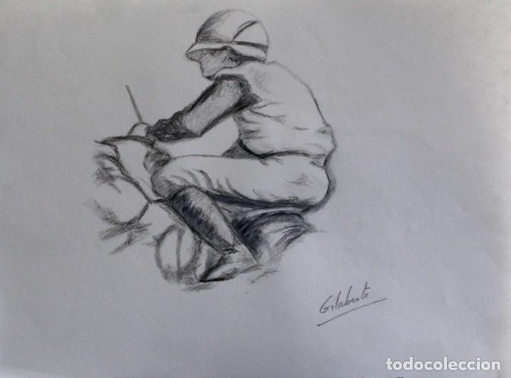 JINETE OBRA DE GILABERTE (Arte - Dibujos - Contemporáneos siglo XX)