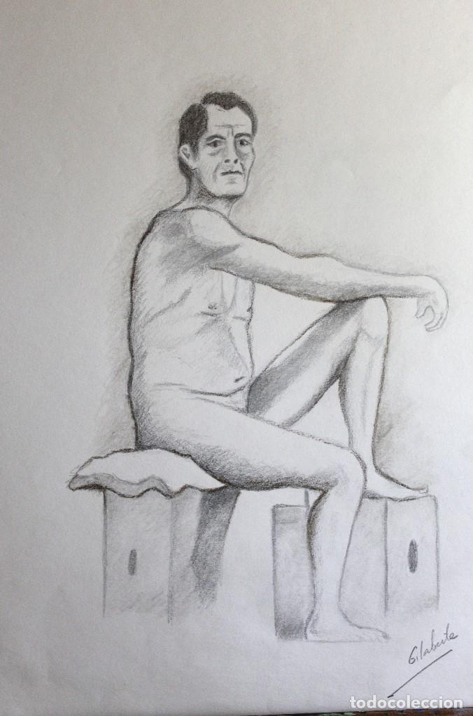 MODELO SEÑOR OBRA DE GILABERTE (Arte - Dibujos - Contemporáneos siglo XX)