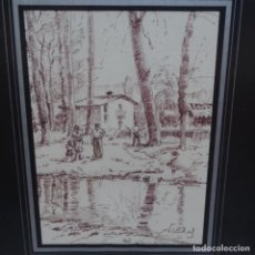 Arte: DIBUJO TINTA Y ROTULADOR DE XAVIER VIÑOLAS.. Lote 155524750