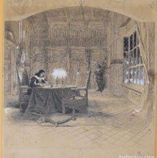 Arte: JOSEP LLUIS PELLICER FENYÉ- ILUSTRACIÓN O BOCETO ORIGINAL PARA LIBRO-( 1842-1901). Lote 155607346
