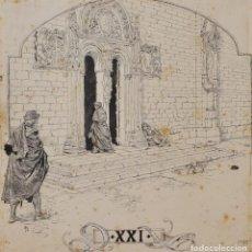 Arte: JOSEP LLUIS PELLICER FENYÉ- ILUSTRACIÓN O BOCETO ORIGINAL PARA LIBRO-( 1842-1901). Lote 155616738