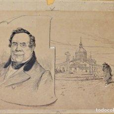 Arte: JOSEP LLUIS PELLICER FENYÉ- ILUSTRACIÓN O BOCETO ORIGINAL PARA LIBRO-( 1842-1901). Lote 155619294