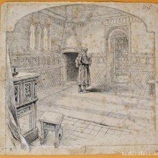 Arte: JOSEP LLUIS PELLICER FENYÉ- ILUSTRACIÓN O BOCETO ORIGINAL PARA LIBRO-( 1842-1901). Lote 155776142