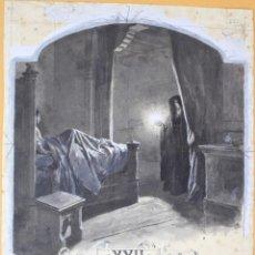 Arte: JOSEP LLUIS PELLICER FENYÉ- ILUSTRACIÓN O BOCETO ORIGINAL PARA LIBRO-( 1842-1901). Lote 155795014