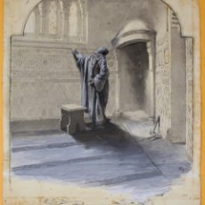 Arte: JOSEP LLUIS PELLICER FENYÉ- ILUSTRACIÓN O BOCETO ORIGINAL PARA LIBRO-( 1842-1901). Lote 155796654