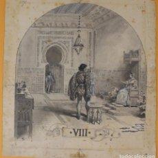 Arte: JOSEP LLUIS PELLICER FENYÉ- ILUSTRACIÓN O BOCETO ORIGINAL PARA LIBRO-( 1842-1901). Lote 155797670