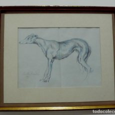 Arte: DIBUJO A LAPIZ COLOR, FIRMADO ILEGIBLE. Lote 155823334