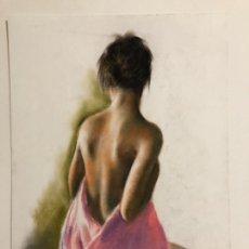 Arte: DOMINGO ÁLVAREZ DIBUJO ORIGINAL PASTEL. Lote 155846681