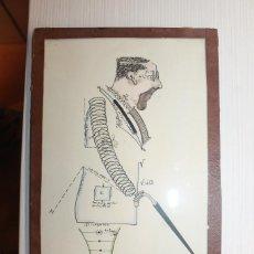 Arte: DIBUJO, FIRMA ILEGIBLE, 1934, ENMARCADO EN CRISTAL Y CARTÓN, 30X16 CM. Lote 155911070