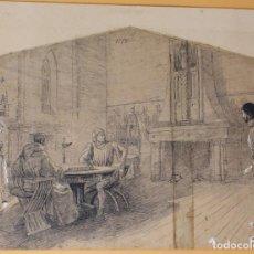 Arte: JOSEP LLUIS PELLICER FENYÉ- ILUSTRACIÓN O BOCETO ORIGINAL PARA LIBRO-( 1842-1901). Lote 155920346
