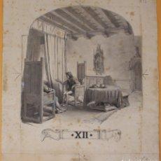 Arte: JOSEP LLUIS PELLICER FENYÉ- ILUSTRACIÓN O BOCETO ORIGINAL PARA LIBRO-( 1842-1901). Lote 155922158