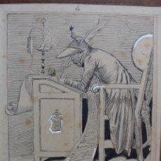 Arte: JOSEP LLUIS PELLICER FENYÉ- (1842 - 1901) ILUSTRACIÓN 16 CM X 12,1 CM. Lote 155936986