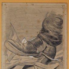 Arte: JOSEP LLUIS PELLICER FENYÉ- (1842 - 1901) ILUSTRACIÓN 16 CM X 12,3 CM. Lote 155938682