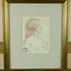 Arte: BUSTO DESNUDO FEMENINO SANGUINA HARRY WATSON 1871 1936 SELLO SUBASTAS BONHAMS STUDIO SALE 1994. Lote 156499514