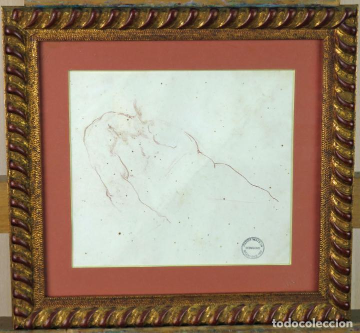 ESTUDIO MASCULINO DIBUJO HARRY WATSON 1871 1936 SELLO SUBASTAS BONHAMS STUDIO SALE 1994 (Arte - Dibujos - Modernos siglo XIX)