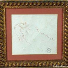 Arte: ESTUDIO MASCULINO DIBUJO HARRY WATSON 1871 1936 SELLO SUBASTAS BONHAMS STUDIO SALE 1994. Lote 156500302