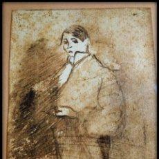 Arte: DIBUJO DE DOMÈNEC CARLES ROSICH (BARCELONA, 1888 - OLOT, 1962) FECHADO EN 1916. Lote 156574450
