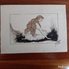 Arte: DOMENECH JOVEN A PLUMILLA ESTILO MODERNISTA . Lote 156577014
