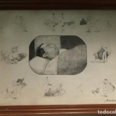 Arte: MUERTE DE JOSELITO POR RAFAEL DÍAZ JARA ROMERO (ARACENA, HUELVA 1900-1973). Lote 156643554
