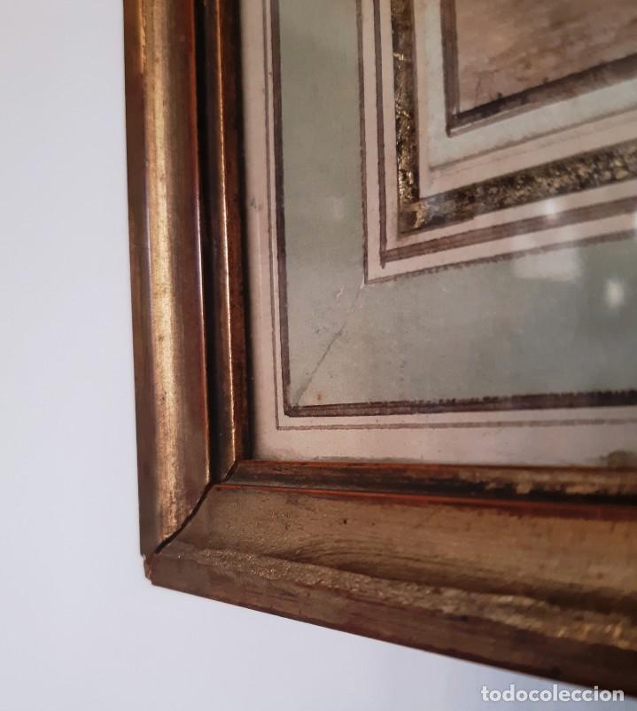 Arte: Dibujo holandés del siglo XVIII. Tinta sobre papel. Escena portuaria - Foto 7 - 156676414