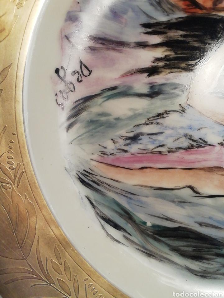 Arte: Plato Copenhague, siglo 19 pintado a mano firmado Degas, tiene las huellas dactilares mano derecha - Foto 5 - 156689793