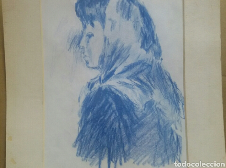 DIBUJO LA CHICA DE LA ALDEA ORIGINAL (Arte - Dibujos - Contemporáneos siglo XX)