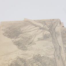 Arte: DIBUJO DEL PINTOR MALLORQUIN COLL BARDOLET. Lote 156913125