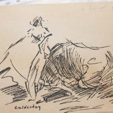 Arte: PINTURA PLUMILLA DEL PINTOR JOAQUIN CALDENTEY SALABERRI CONOCIDO. Lote 156919398