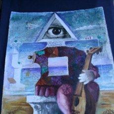 Arte: JORDI PLA DOMENECH (BARCELONA, 1917 - 1997) TECNICA MIXTA Y COLLAGE SOBRE PAPEL. FIRMADO. Lote 157017290